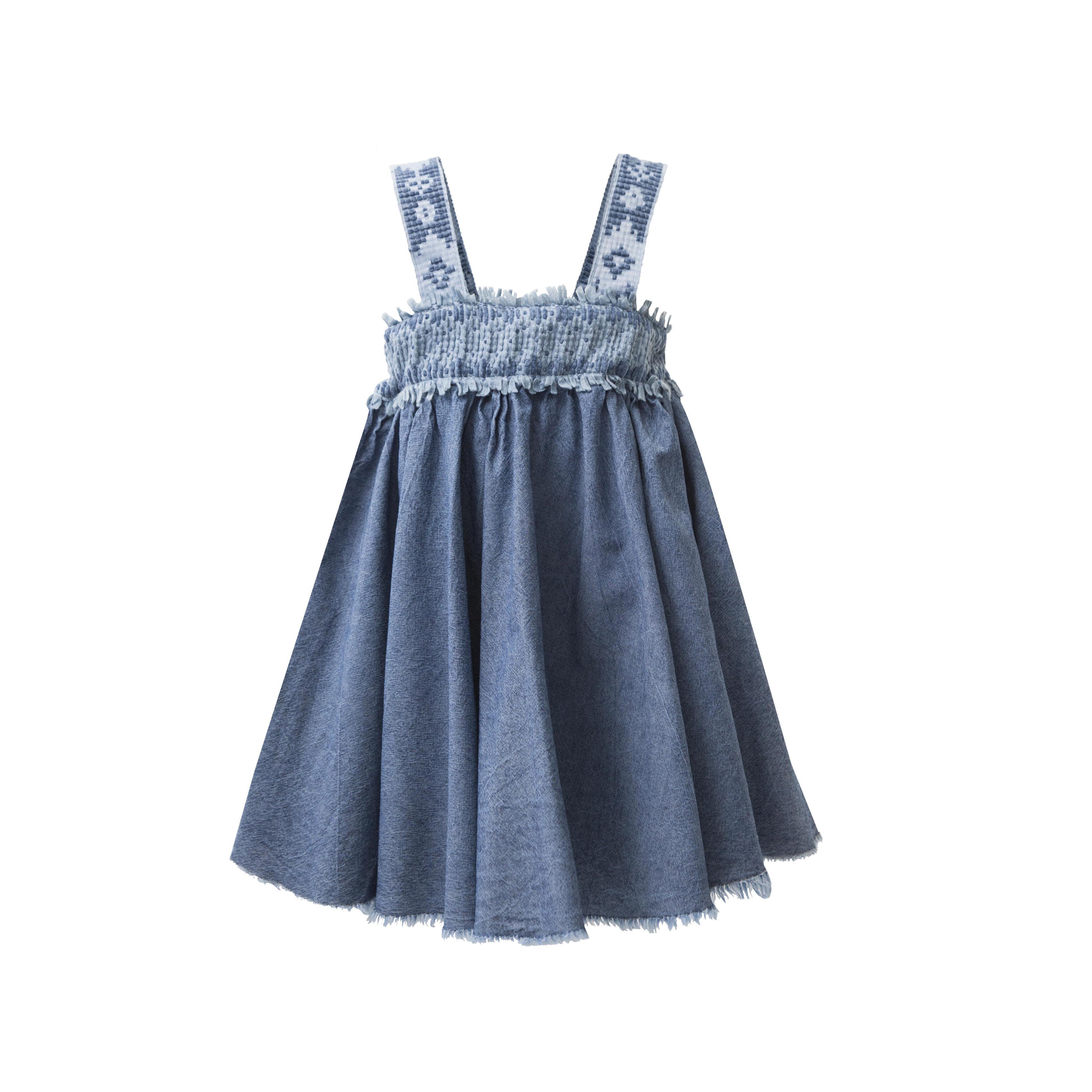 229e1be6cda6 Φόρεμα τζιν με φαρδιές τιράντες