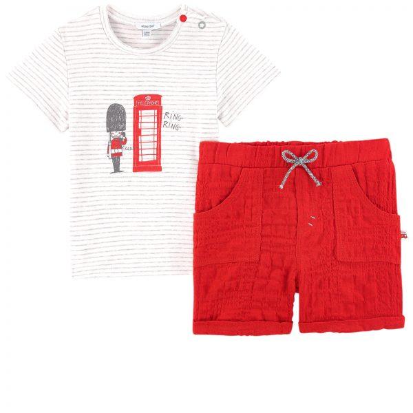 "3b0617d18393 Σετ μπλούζα ""Telephone""   κόκκινο σορτς"